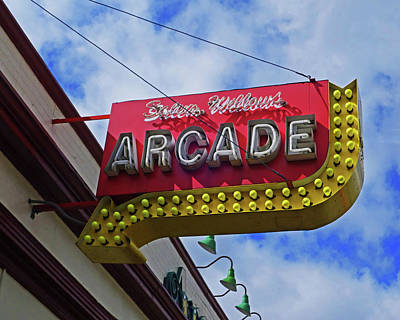 Photograph - Salem Willows Arcade Sign Salem Ma by Toby McGuire