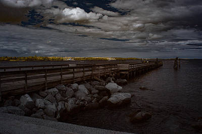 Photograph - Salem Willows Pier by Jeff Folger