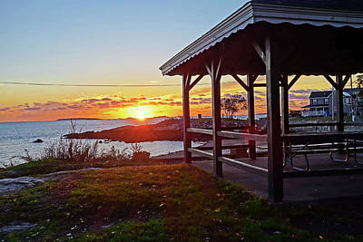 Photograph - Salem Willows Sunrise Salem Ma Gazebo by Toby McGuire