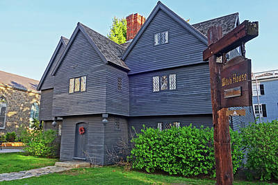 Photograph - Salem Witch House Salem Ma by Toby McGuire