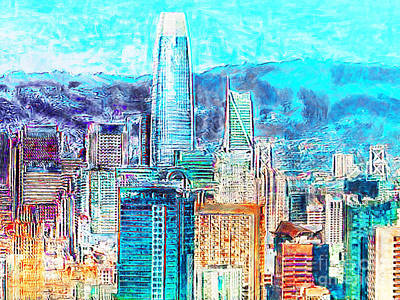 Photograph - Salesforce Tower And The San Francisco Skyline 20180512 by Wingsdomain Art and Photography
