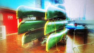 Art Print featuring the photograph Salford Quays Boats by Isabella F Abbie Shores FRSA