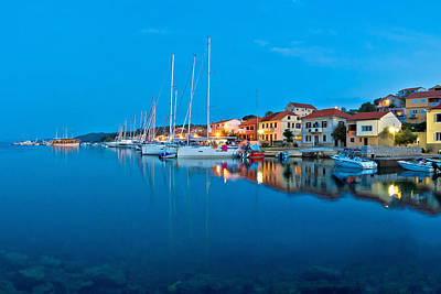 Photograph - Sali Harbor Blue Hour View by Brch Photography