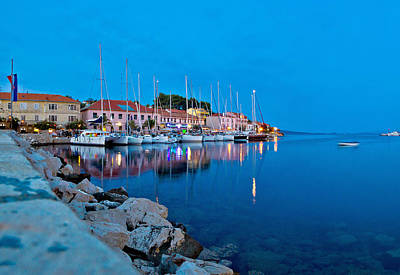 Photograph - Sali Village Harbor Evening View by Brch Photography
