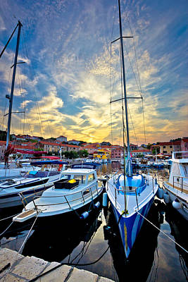 Photograph - Sali Village Sunset In Harbor Vertical View by Brch Photography