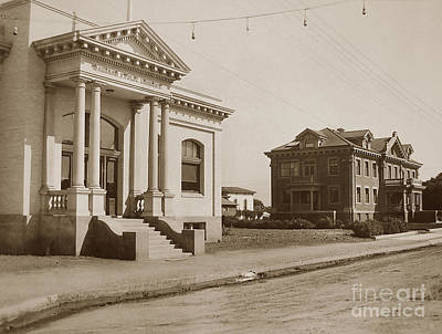 Photograph - Salinas Carnegie Public Library Is Still On The Corner Of Main And San Luis Streets by California Views Mr Pat Hathaway Archives