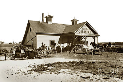 Photograph - Salinas Creamery Circa 1905, by California Views Archives Mr Pat Hathaway Archives
