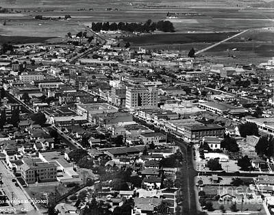 Photograph - Salinas Downtown	Aerial	 Sept 1930 by California Views Mr Pat Hathaway Archives