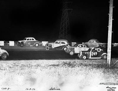Photograph - Salinas Speedway Oct. 9, 1952 by California Views Mr Pat Hathaway Archives