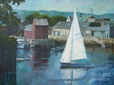 Painting - Saling In Rockport Ma by Claire Gagnon