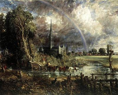 Salisbury Cathdral From The Meadows Original by John Constable