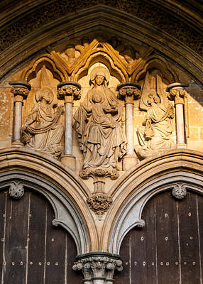 Photograph - Salisbury Cathedral Doors by Tom Potter