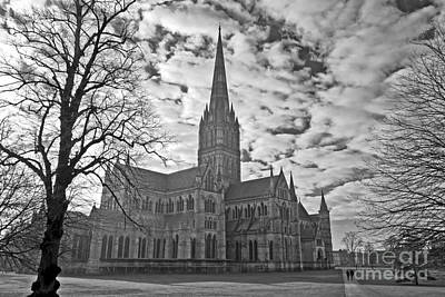Photograph - Salisbury Cathedral In Monochrome by Terri Waters