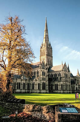 Photograph - Salisbury Cathedral by Phyllis Taylor