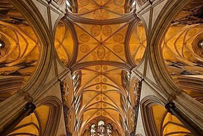 Photograph - Salisbury Cathedral Roof by Stephen Taylor