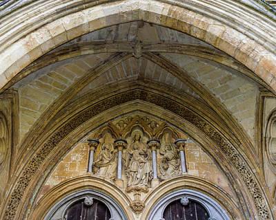 Photograph - Salisbury Cathedral Sculpture Keystone by Jacek Wojnarowski