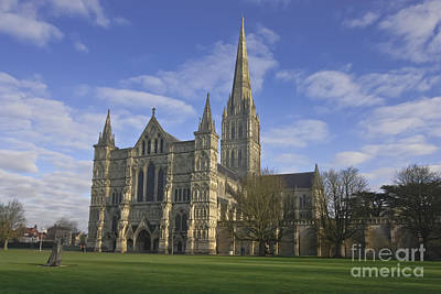 Photograph - Salisbury Cathedral Wiltshire by Terri Waters