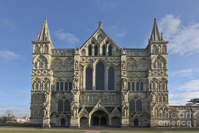 Photograph - Salisbury Catherdral West Front by Terri Waters