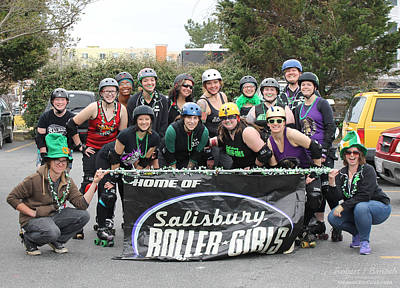 Photograph - Salisbury Roller Girls by Robert Banach