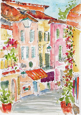 Painting - Salita Serbelloni Bellagio Italy by Pat Katz