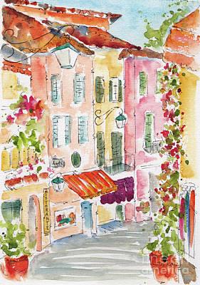 Painting - Salita Serbelloni Bellagio Italy by Pat Katz