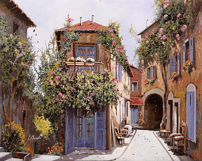 Sunny Painting - salitella a Cagnes by Guido Borelli
