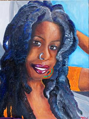 Portraits Painting - Salkis Re by Deedee Williams
