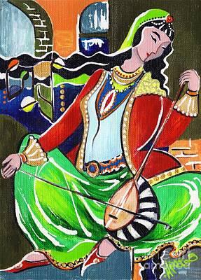 Sallaneh And Its Player Art Print by Elisabeta Hermann