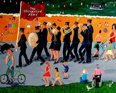 Sally Army Print by Sandy Wager