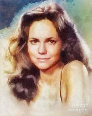 Musicians Royalty-Free and Rights-Managed Images - Sally Field, Vintage Hollywood Actress by Sarah Kirk