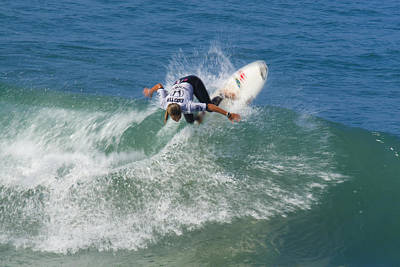 Photograph - Sally Fitzgibbons Surfer Girl by Waterdancer