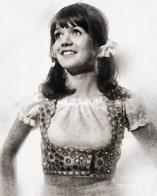 Sally Geeson, Vintage British Actress By John Springfield Art Print