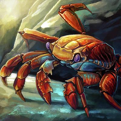 Digital Art - Sally Lightfoot Crab by Cass Womack