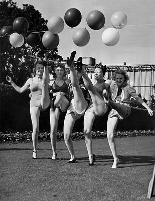 One Leg Photograph - Sally Rand's Entertainers by Underwood Archives