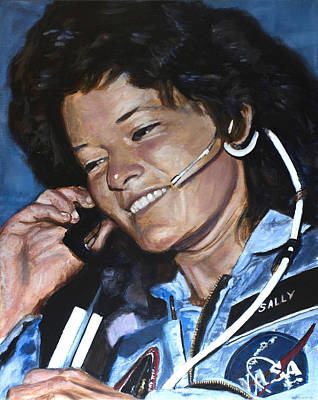 Nasa Painting - Sally Ride by Simon Kregar