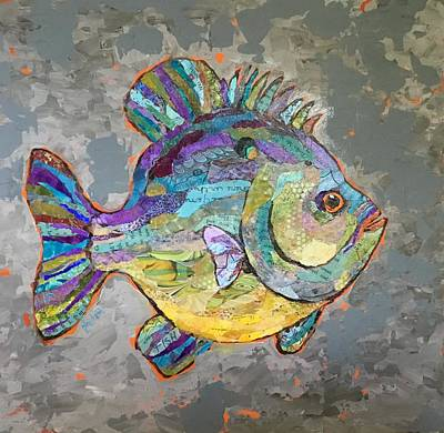 Painting - Sally Sunfish by Phiddy Webb