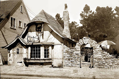 Photograph - Sally's Tea Room Now The Tuck Box Carmel Cal. Circa 1928 by California Views Mr Pat Hathaway Archives