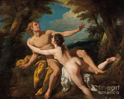 Naiad Painting - Salmacis And Hermaphroditus by Jean Francois de Troy