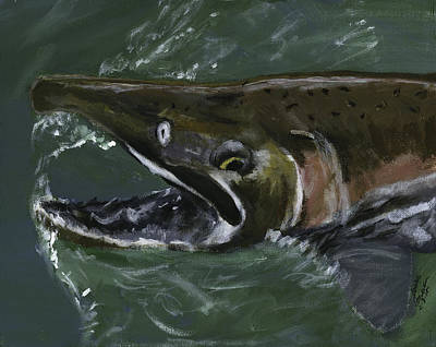 Painting - Salmon Brown by Sara Stevenson