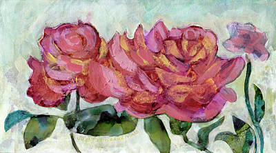 Painting - Salmon Colored Roses by Julie Maas