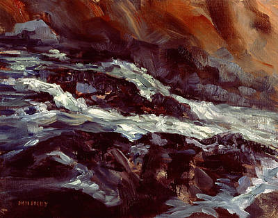 Painting - Salmon Falls River Rapids by Ken Fiery