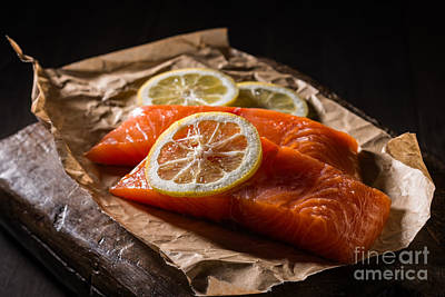 Fish Fillet Photograph - Salmon Fillets by Amanda Elwell