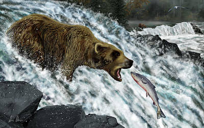 Digital Art - Salmon Fishing by Don Olea