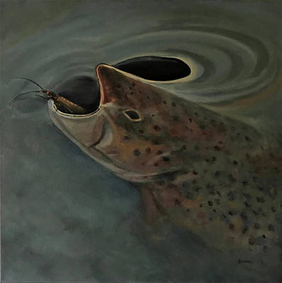 Painting - Salmon Flies Are Back by Les Herman