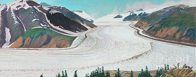 Painting - Salmon Glacier, Frozen Motion by Stanza Widen