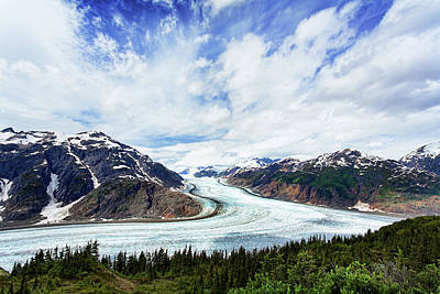 Clouds Photograph - Salmon Glacier by Heidi Brand