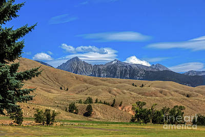 Photograph -  Salmon Idaho Foothills And The Rocky Mountains by Robert Bales