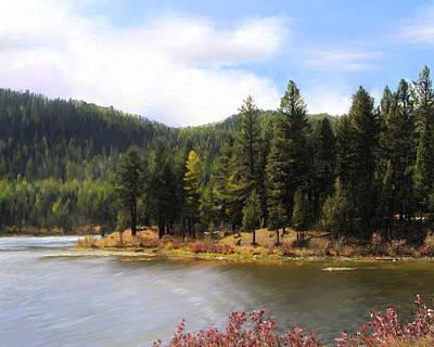 Salmon Lake Montana Art Print by Susan Kinney