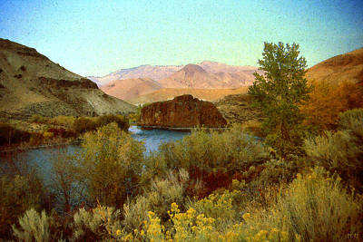 Painting - Salmon River Idaho - Landscape by Peter Potter
