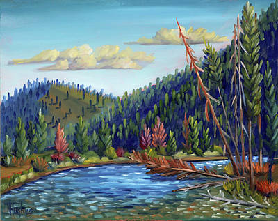 Salmon River Idaho Painting - Salmon River - Stanley by Kevin Hughes